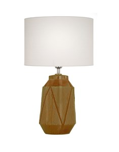 Safi Table Lamp Ochre | Ceramic Detailed Table Lamp