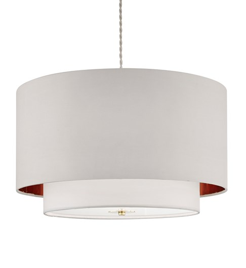 Madaline 2 Tier Pendant Shade - Ivory | Gold