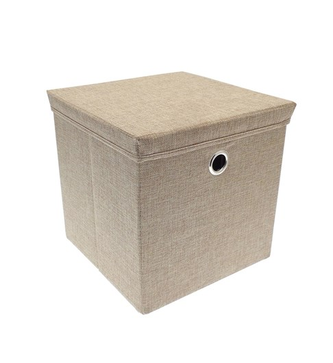 Storage Box with Lid - Taupe