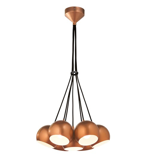 Percy 7 Light Ceiling Fitting - Copper