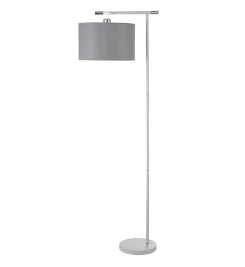 Giovanna Floor Lamp - White | Chrome | Grey