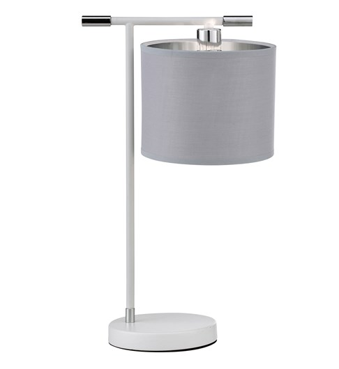 Giovanna Table Lamp - White | Chrome | Grey