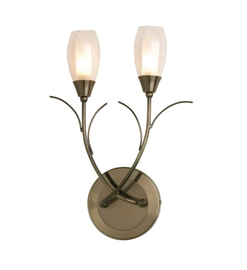 Iris Wall Light - Antique Brass