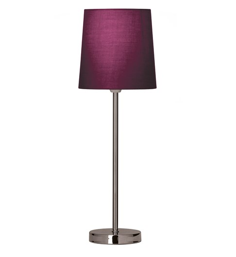 Tall Stick Table Lamp - Aubergine