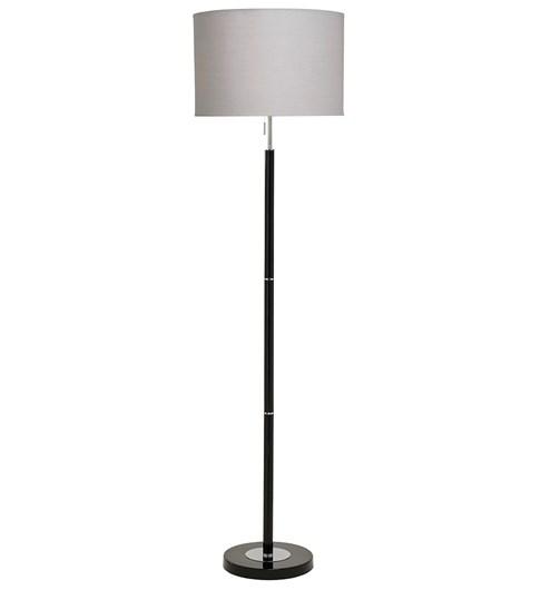 Madaline Floor Lamp - Black | Chrome