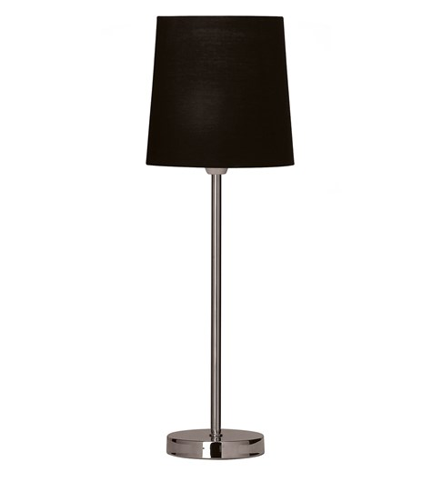 Tall Stick Table Lamp - Black