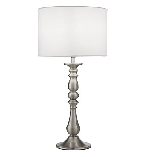 Georgie Table Lamp - Satin Nickel