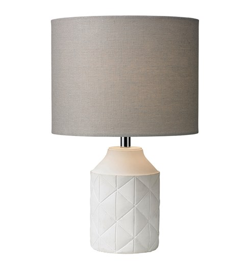 Luca Table Lamp - White