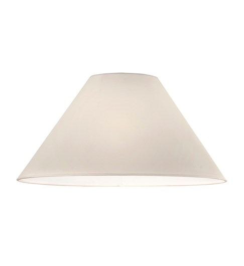 "12"" Cream Cone Lampshade with UK Fitting"