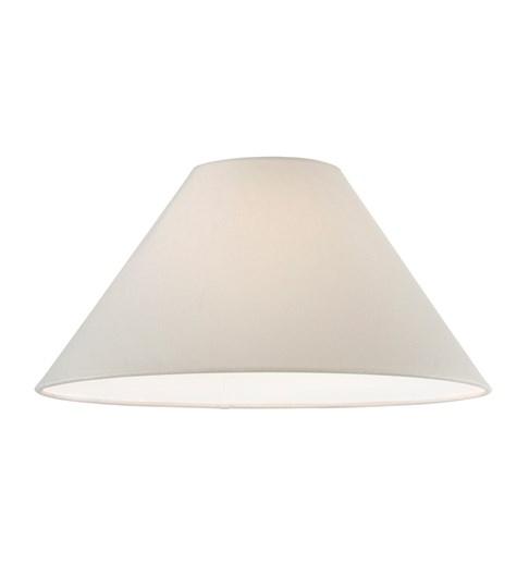 "16"" Cream Linen Cone Lampshade"