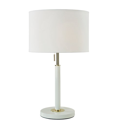 Madaline Table Lamp - Ivory | Gold