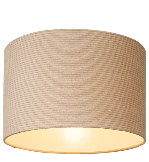 Cord Cylinder Pendant Shade - Taupe
