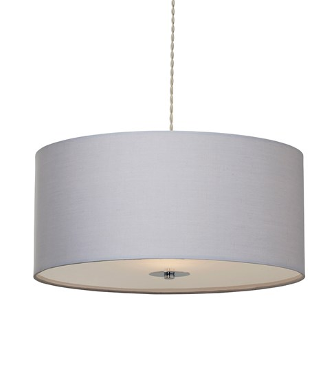 Madaline Pendant Shade - Grey | Chrome