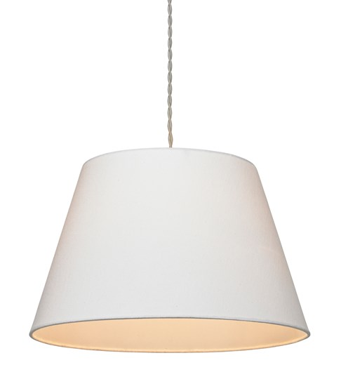 Small Drum Pendant Shade - Ivory