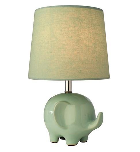 Ellie Elephant Table Lamp - Mint Green