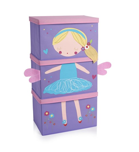 Fairies Stacking Storage Boxes - Pack of 3