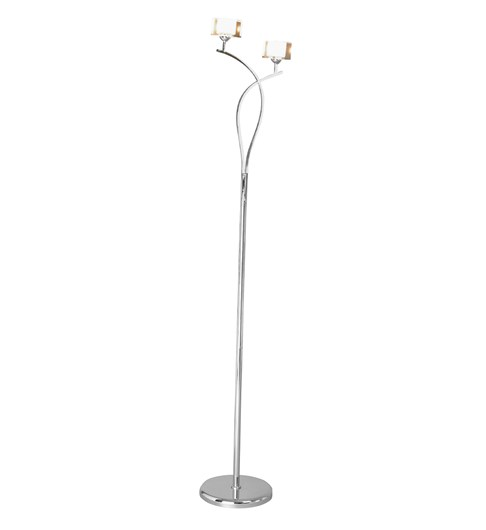 Ice 2 Light Floor Lamp - Chrome