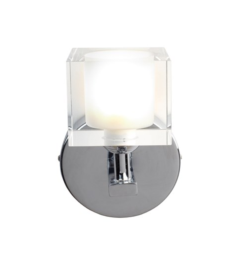 Ice 1 Light Wall Light - Chrome