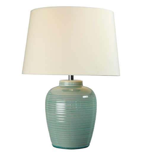 Lume Barrel Table Lamp - Blue