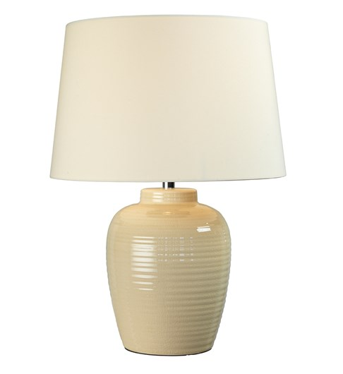 Lume Barrel Table Lamp - Cream