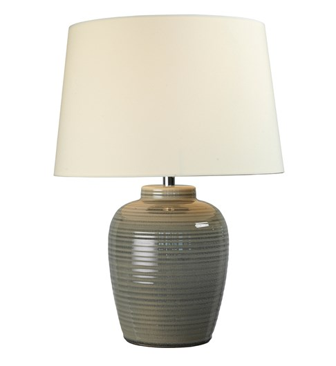 Lume Barrel Table Lamp - Warm Grey