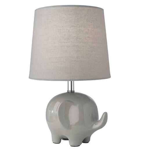 Ellie Elephant Table Lamp - Grey