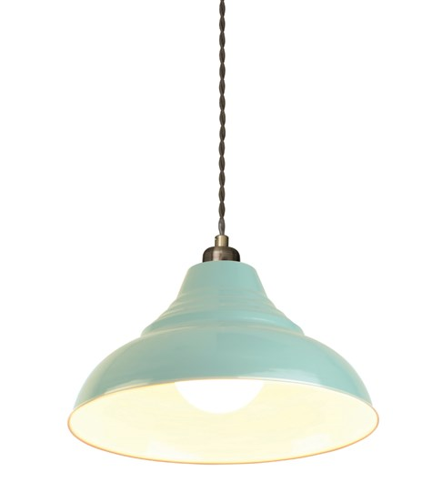 Vintage Pendant Shade - Powder Blue