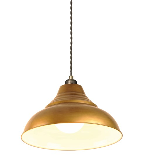 Vintage Pendant Shade - Antique Brass