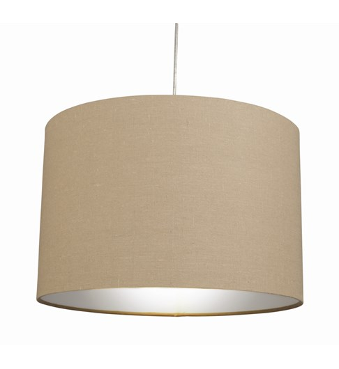 "12"" Raj Cylinder Pendant Shade - Putty Grey"