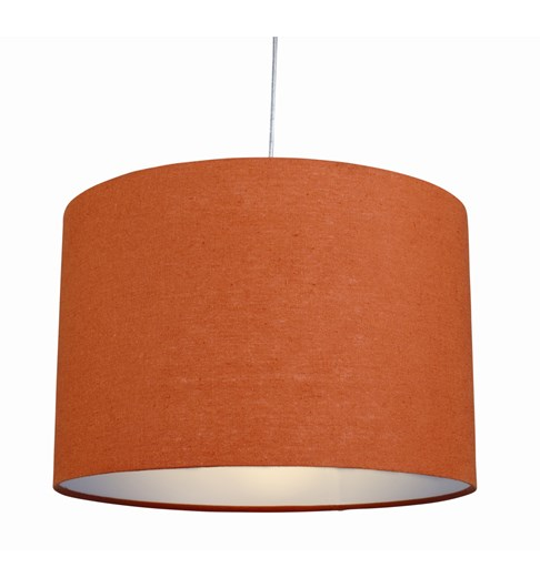 "12"" Raj cylinder Pendant Shade - Burnt Orange"