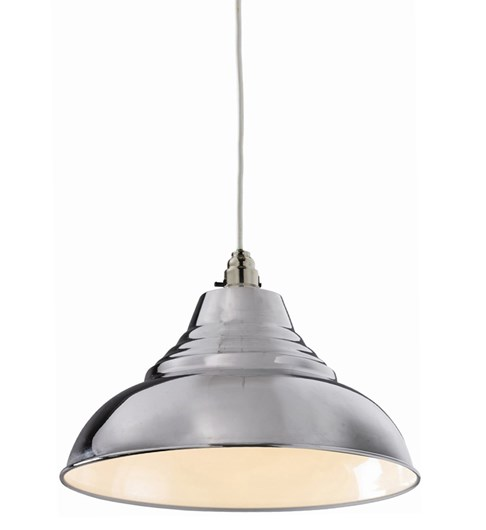 Vintage Pendant Shade - Chrome