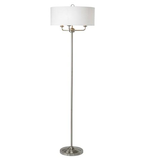 Grantham Floor Lamp - Satin Nickel
