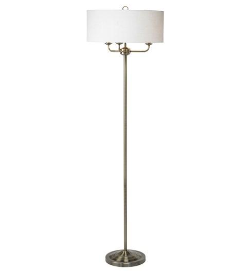 Grantham Floor Lamp - Antique Brass