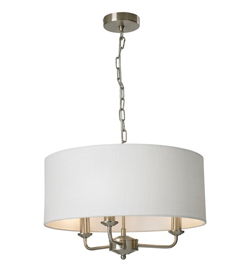 Grantham 3 Light Ceiling Fitting - Satin Nickel