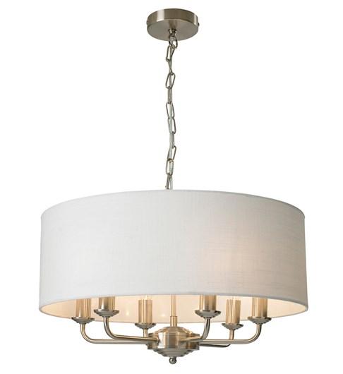 Grantham 6 Light Ceiling Fitting - Satin Nickel