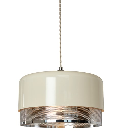 Emilio Large Pendant Shade - Chrome