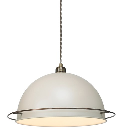 Bauhaus Pendant Shade - Cream