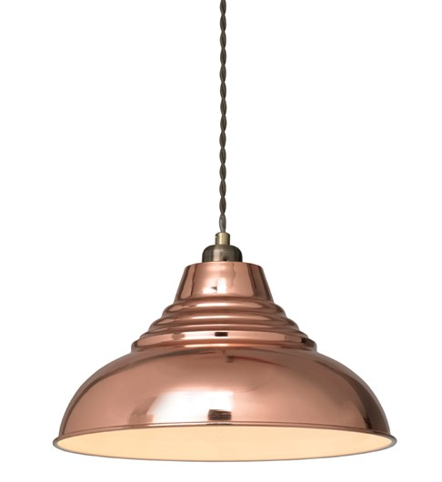 Vintage Pendant Shade - Shiny Copper