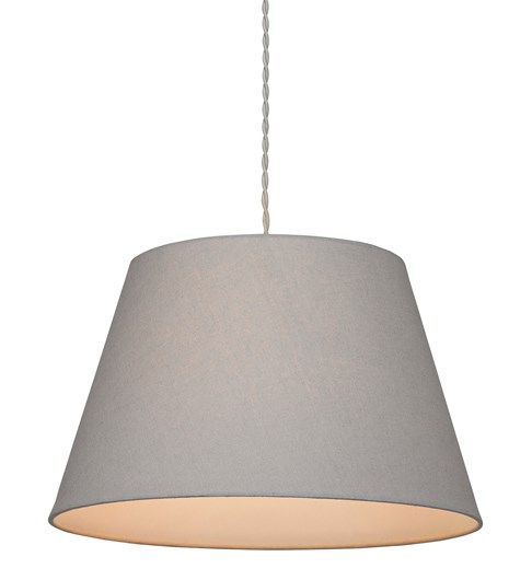 Large Drum Pendant Shade - Grey