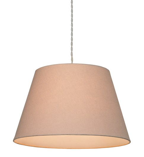 Small Drum Pendant Shade - Taupe