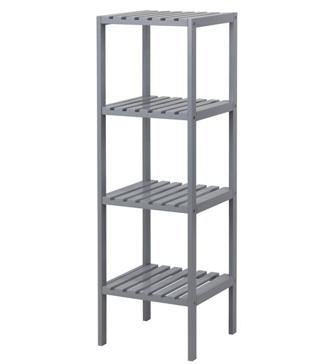 Edgeworth 4 Tier Shelving Unit - Grey