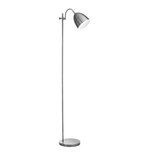 Seb Floor Lamp | Brushed Chrome