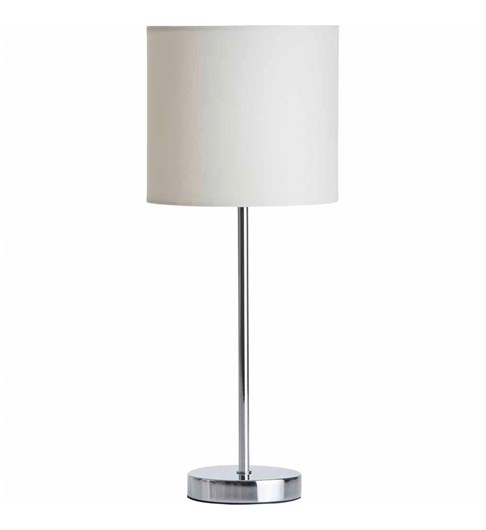 Tall Stick Table Lamp - Cream