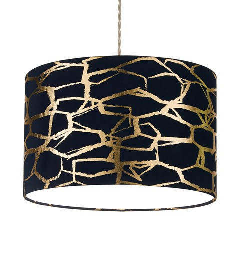 Keira Pendant Shade Navy | Gold