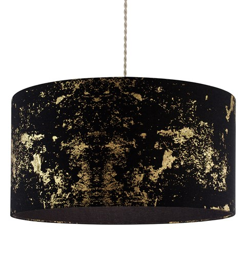 Frankie Pendant Shade - Black | Gold