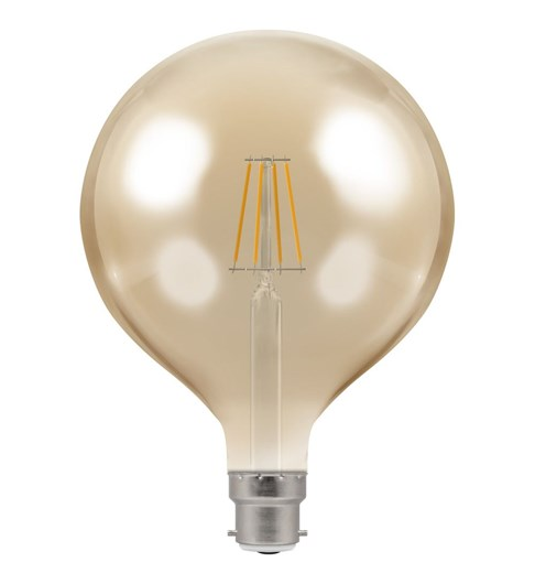 LED Large Globe Filament Bulb BC-B22d - Antique Bronze