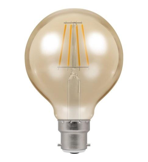 LED Globe Filament Bulb BC-B22d - Antique Bronze