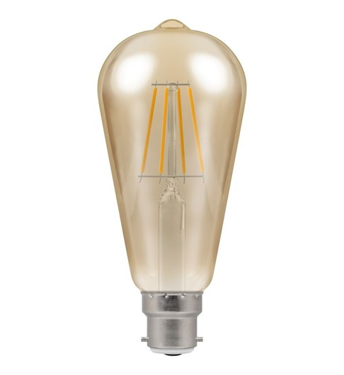 LED Filament Vintage Bulb BC-B22d - Antique Bronze