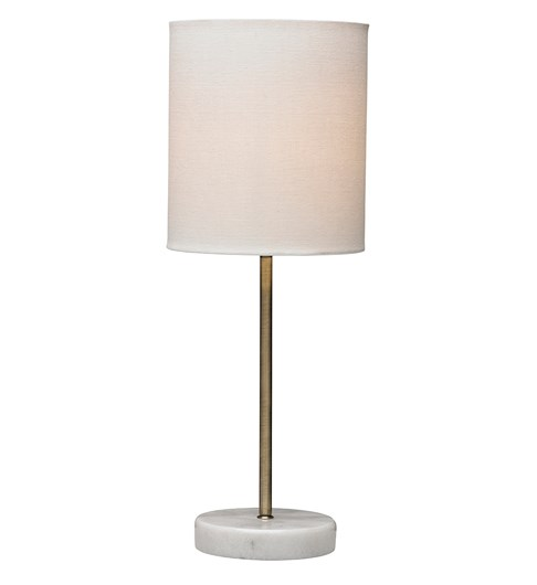 Bianco Antique Brass Table Lamp With Ivory Shade