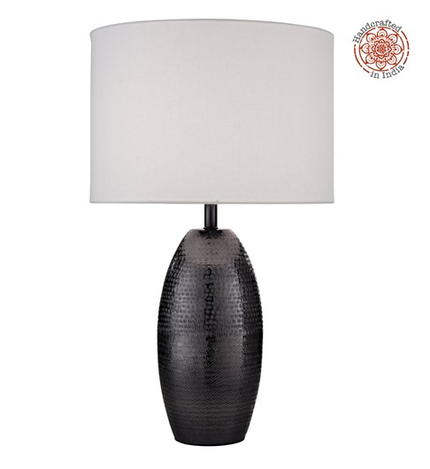 Darsha Table Lamp - Blackened Nickel